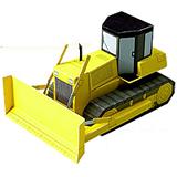 Paper model de un bulldozer. Manualidades a Raudales.