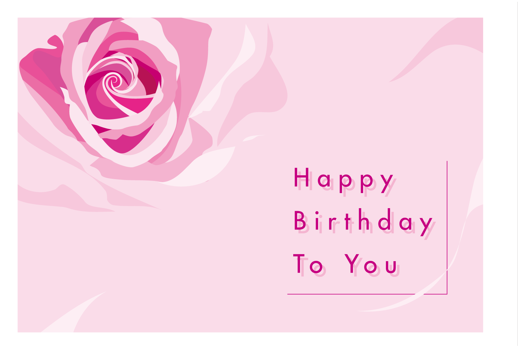 バースデーカードhappy Birthday To You バラ 無料テンプレート印刷